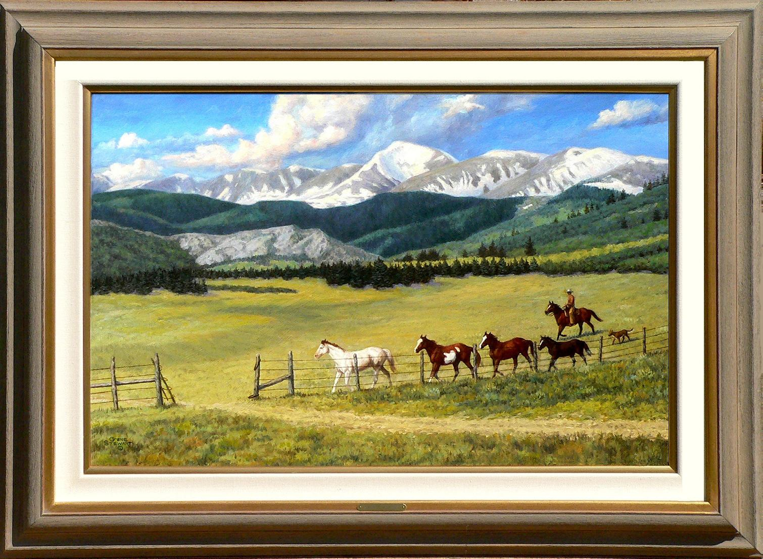 Changing pastures western oil painting changing pastures oi painting jeuxipadfo Images