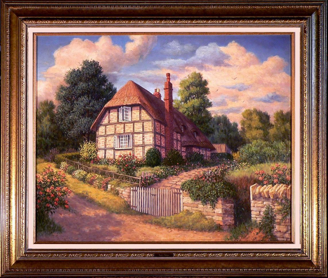 "'English Antique"", oil painting"