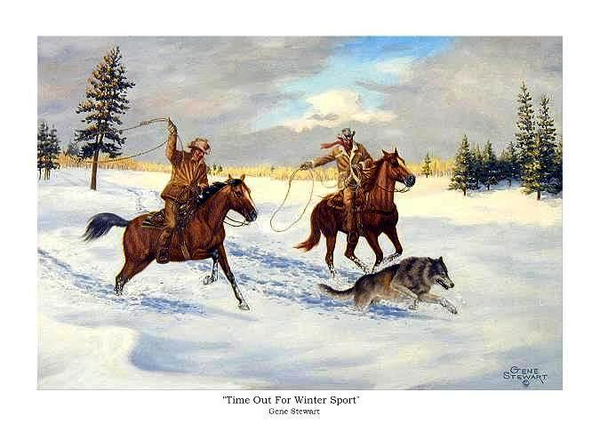 """Time Out For Winter Sport"", print"